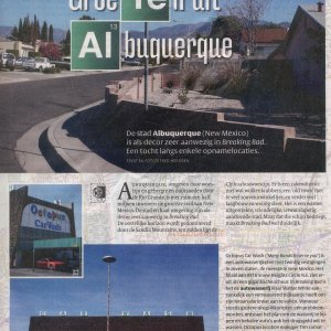 Albuquerque location visit, Dutch VPRO Gids TV magazine, February 2, 2013