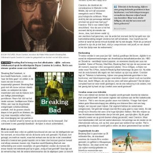 Bryan Cranston interview, Dutch Volkskrant newspaper, October 24, 2012