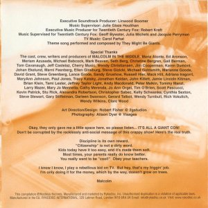 Music from Malcolm in the Middle - Soundtrack - CD - Booklet Back - Page 2