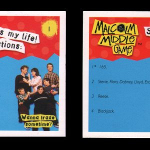 Malcolm in Middle Board Game - That's My Life Cards