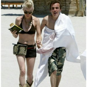 Frankie Muniz & Jamie Gandy at the Beach