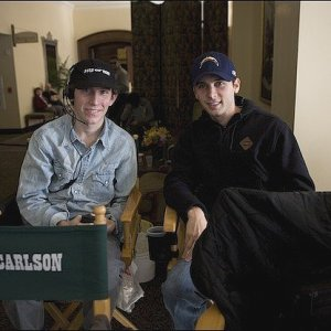 Erik Per Sullivan visits Justin Berfield on the set of 'Sons of Tucson'