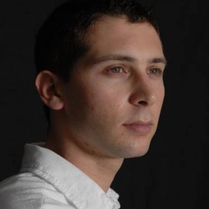 Justin Berfield black backdrop