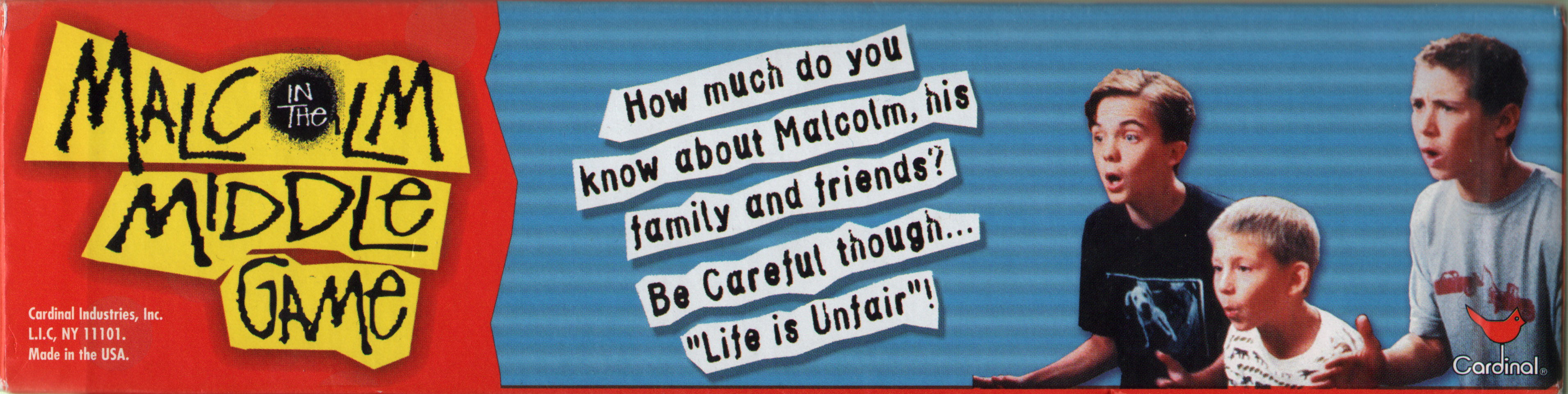 Malcolm in Middle Board Game - Side 2